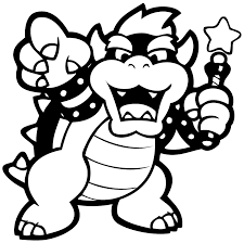 paper mario coloring pages kids coloring