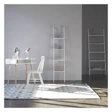 Leaning Ladder Shelf White Leaning Shelf Desk White Decorative Desk Decoration