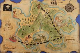 Neverland Map A Faithful Attempt Pirate Treasure Maps