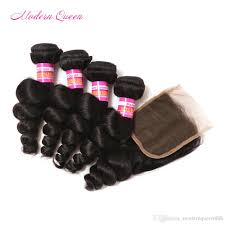 Really Cheap Human Hair Extensions by Cheap Selling Mongolian Loose Curl Human Hair Wefts 4 Bundles