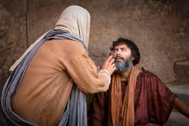 Christ Healing The Blind Christ Healing A Man