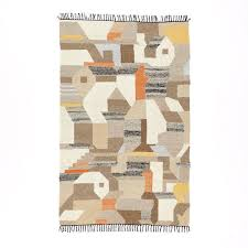 west elm rug art kilim wool rug living room barclay road pinterest