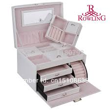 jewelry box necklace organizer images Rowling large white jewelry box earring ring necklace organizer jpg