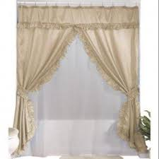 Swag Shower Curtain Sets Swag Shower Curtain Attached Valance Swag Shower Curtains Teawing