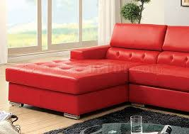 sectional sofa cm6122rd in red bonded leather match