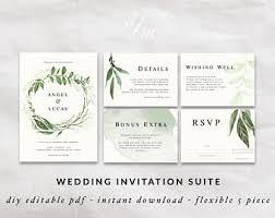 Diy Wedding Invitation Templates Floral Wreath Invitation Diy Wedding Invitation Templates