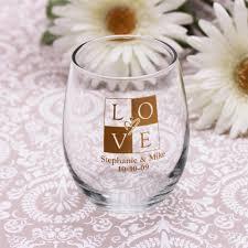 stemless wine glasses wedding favors wine glass favors sosfund