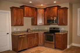 L Kitchen Designs by Corner Basement Mini Kitchen Design Ideas With Small L Shape Brown