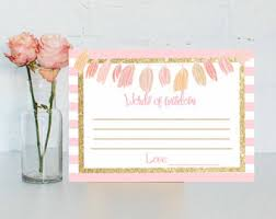 bridal shower words of wisdom cards baby shower baby words of wisdom baby advice cards