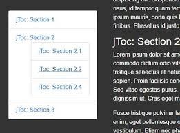table of contents generator easy table of contents generator with jquery jtoc free jquery