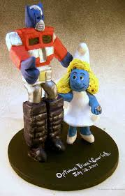 transformer cake toppers weds smurf wedding cake topper
