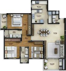 Architecture House Plans by Pinterest Claudiagabg Apartamento 3 Cuartos Cosas D Casa