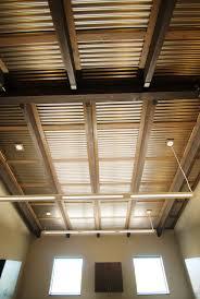 corrugated metal ceiling garage home design ideas