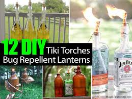 Patio Insect Repellent 12 Diy Tiki Torches And Bug Repellent Lanterns