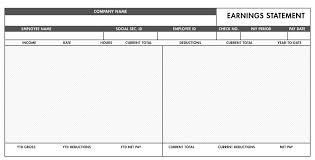 Excel Paystub Template Free Basic Paystub Template Excel Paystub Templates