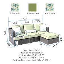 Sorrento Patio Furniture by Sirio Sorrento 4 Piece Brown And Green Resin Wicker Outdoor