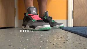 green glow 4 pink lace on air green glow 4 iv retro sneaker with