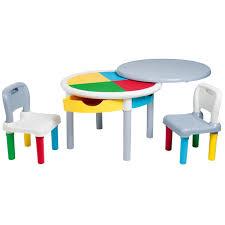 bureau bébé 18 mois table de construction multicolore et ses deux chaises imagibul