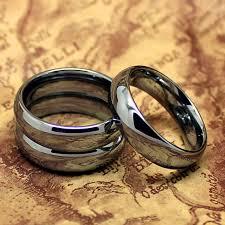 cincin tungsten carbide kualitas atas tungsten warna silver 6 mm murni cincin tungsten