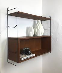 vintage teak wall shelf by nisse strinning for string 1960s for