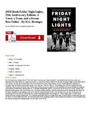 friday night lights book online epub free download friday night lights 25th pdfkul com