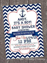 baby shower anchor theme find out about chevron nautical baby shower invitations 1 00 each