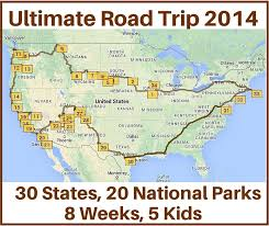road map planner usa how to drive across the usa hitting all the major landmarks