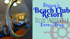 disney u0027s beach club deluxe studio villa room tour youtube