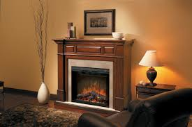 cream color of wall paint with fireplace decorated also wooden