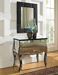 Powell Black Glass Top Side 61 Best Mirror Furniture Images On Mirrors Mirrored
