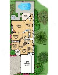 Italian House Plans by Rhodes Ranch Deux Narrow House Plans Luxury House Plans