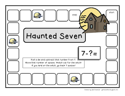 4 free halloween themed 4 in a row game boards for addition and
