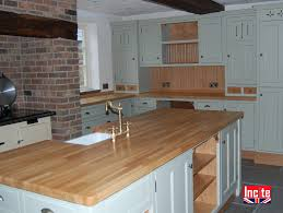 Bespoke Kitchen Furniture Custom Made Kitchen Units Painted With Oak Trim