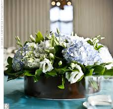 Hydrangea Centerpieces Blue Hydrangea Centerpieces Sat On All The Reception Tables Which