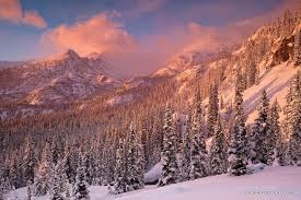 Longs Sunrise Over Long U0027s Peak After A Fresh Snow In Rocky Mountain