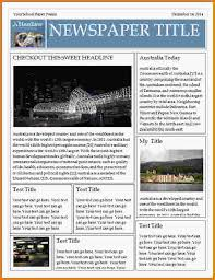newspaper outline for word free newspaper template pack for word