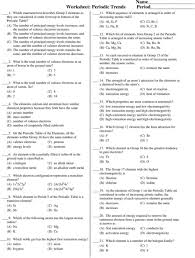 Atomic Structure And The Periodic Table Worksheet Answers by Worksheet Periodic Table Trends Answers 4 14 Periodic U0026 Diagrams