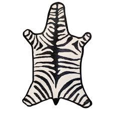 Taupe Zebra Rug Zebra Peruvian Llama Flat Weave Rug Modern Rugs Jonathan Adler