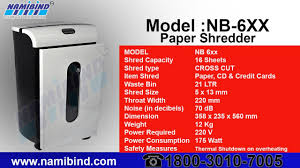 Home Paper Shredders by Paper Shredder Retailor In Moti Bagh Delhi Ncr Namibind Youtube