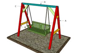 bench kids bench swing how to build a standing arbor swing how