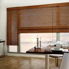 Woven Roman Shades Bamboo Woven Wood Roman Shade Window Treatments Design Ideas