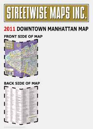 Downtown Manhattan Map Streetwise Downtown Manhattan Map Laminated Street Map Of