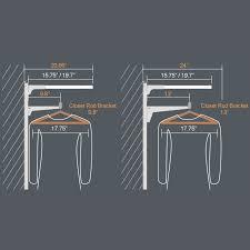 standard closet bar height thesecretconsul com