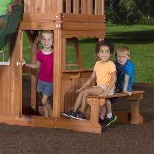 backyard discovery oakmont cedar wooden swing set walmart com