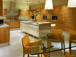 Luxury Modern Kitchen Designs Kitchen L Shaped White Wood Cabinet Double Built In Oven Cone