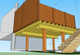 Prix Terrasse Suspendue Beton by Plan De Terrasse En Bois Sur Pilotis Bivoli