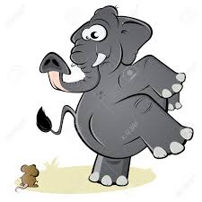 elephant and mouse clipart clipartxtras