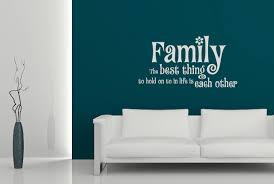 family hold onto each other wall decal stickers wall words