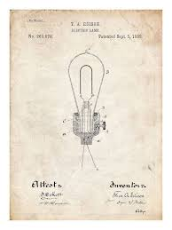 how did thomas edison invent the light bulb edison light bulb invention poster 18x24 handmade giclée gallery