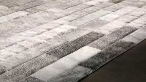 Modern Cowhide Rug Flooring Interesting Brown White Patchwork Cowhide Rugs By